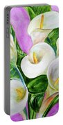 Calla Lillies 3 Portable Battery Charger