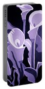 Calla Lillies Lavender Portable Battery Charger