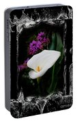 Calla Lily Splash Portable Battery Charger