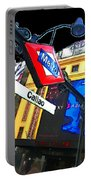 Callao Metro Entrance At Night Madrid Portable Battery Charger