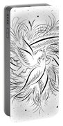 Calligraphic Love Birds Portable Battery Charger