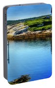 Calm Water At Peggys Cove #3 Portable Battery Charger