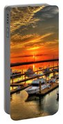 Calm Waters Bull River Marina Tybee Island Savannah Georgia Art Portable Battery Charger
