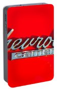 Camaro Logo On Cherry Red Car Portable Battery Charger