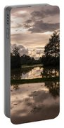 Cambodian Countryside Rice Fields Reflection Portable Battery Charger
