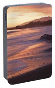 Cambria Coastline With Shimmering Sunset Color Portable Battery Charger