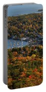 Camden Harbor In The Fall Portable Battery Charger