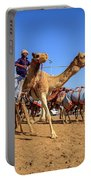 Camel Racing In Dubai Portable Battery Charger