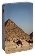 Camel Ride At The Pyramids Portable Battery Charger