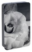 Camellia Back And White Portable Battery Charger