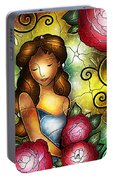 Camellia Lady Portable Battery Charger
