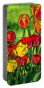 Camille's Tulips Portable Battery Charger