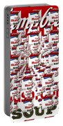 Campbells Mushroom Soup Squared Portable Battery Charger