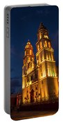 Campeche Cathedral At Evening Portable Battery Charger