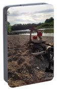 Campfire Cooking Soon - Indiana Canoeing Portable Battery Charger