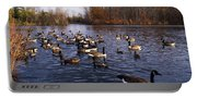 Canada Geese Branta Canadensis Portable Battery Charger