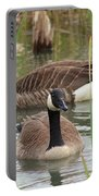 Canada Geese In Pond Portable Battery Charger
