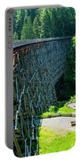 Canada National Historic Wooden Trestle- Kinsol Trestle Near Shawnigan Lake, Bc Canada. Portable Battery Charger