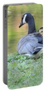 Canadian Goose Mother And Babies Portable Battery Charger