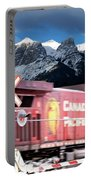 Canadian Pacific Trail Slices Through The Rockies Portable Battery Charger