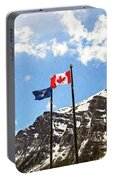 Canadian Rockies - Digital Painting Portable Battery Charger