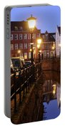Canal Kromme Nieuwegracht In Utrecht In The Evening 15 Portable Battery Charger