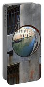 Canals Reflected In Mirrors In Venice Italy Portable Battery Charger