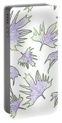 Canary Vine Leaves - Purple And Green Portable Battery Charger