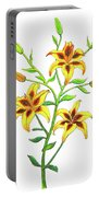 Candy Cane Lily Portable Battery Charger