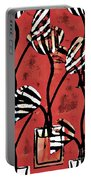 Candy Stripe Tulips 2 Portable Battery Charger