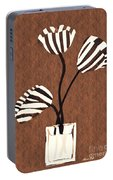 Candy Stripe Tulips 3 Portable Battery Charger