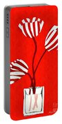 Candy Stripe Tulips Portable Battery Charger