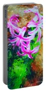 Candy Striped Hyacinth  Portable Battery Charger
