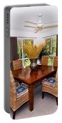 Cane Dining Setting Portable Battery Charger