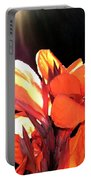 Canna Lily Portable Battery Charger by Will Borden