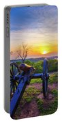 Cannon At Sunset Portable Battery Charger