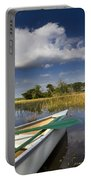 Canoeing In The Everglades Portable Battery Charger by Debra and Dave Vanderlaan