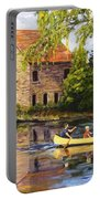 Canoeing Past The Mill Portable Battery Charger