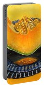 Cantaloupe Oil Painting Portable Battery Charger