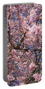 Canvas Of Pink Blossoms Portable Battery Charger
