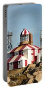 Cape Bonavista Lighthouse, Newfoundland, Canada Old And New Lamp Portable Battery Charger