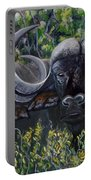 Cape Buffalo First Painting Portable Battery Charger