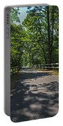 Cape Cod Rail Trail Trees Eastham Ma Fence Portable Battery Charger