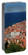 Cape Madonna At Point Of Piran Slovenia On Blue Adriatic Sea Wit Portable Battery Charger