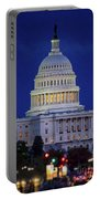 Capitol At Dusk Portable Battery Charger