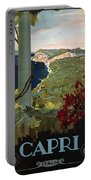 Capri, Italia - Bay Of Naples, Italy - Retro Travel Poster - Vintage Poster Portable Battery Charger