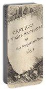 Capricci Di Varie Battaglie (title Page) Portable Battery Charger
