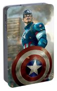 Captain America With Helmet Portable Battery Charger
