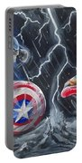 Captain American Vs Ironman Portable Battery Charger