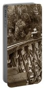 Car On A Wooden Railroad Trestle Circa 1916 Portable Battery Charger
